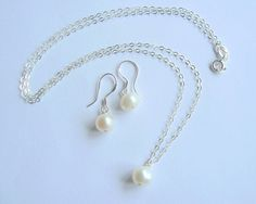 freshwater pearl set by clutch and clasp | notonthehighstreet.com £29.00
