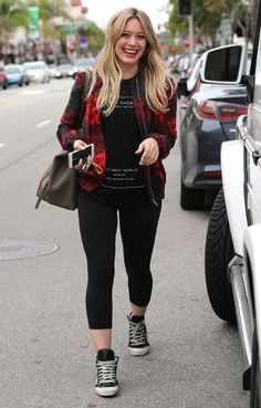 Hilary Duff is seen out for lunch at a sushi restaurant in Beverly Hills, California on December 17, 2014