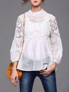 Pierced Cotton silk blend Top