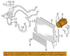 Vw Volkswagen 06-07 Jetta 2.5l-l5-a/c Ac Compressor 1k0820859d #car #truck #parts #air #conditioning #heat #a/c #compressor #clutch #1k0820859d