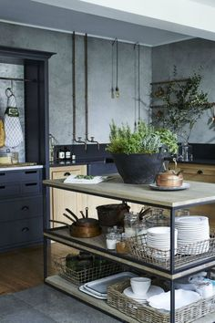 Awesome 62 Stylish Industrial Kitchen Design Ideas. More at https://trendecor.co/2017/08/26/62-stylish-industrial-kitchen-design-ideas/