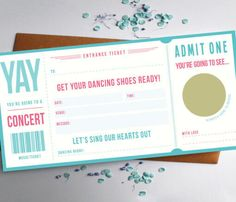 Music Ticket Concert Gift Concert Ticket Gift Music