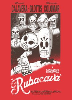 Rubacava by Scott Weston Grim Fandango inspired design based on the Casablanca Poster. Video Game T Shirts, Video Game Art, Video Games, Pc Games, Hurley, Lucas Arts, Cartoon Games, Funny Games, Skulls