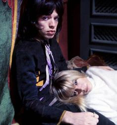 """""""Mick Jagger and Anita Pallenberg on the set of Performance, by Cecil Beaton, my edit of original via Sothebys. Below, Cecil Beaton using the mirrored ceiling to get another angle on. Mick Jagger, Anita Pallenberg, Rolling Stones Keith Richards, Cecil Beaton, Stevie Ray Vaughan, David Gilmour, Photographs Of People, Freddy Krueger, Def Leppard"""