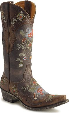 Oh my god, I want it.  Old Gringo Ultra Vintage Bonnie Boots from Sheplers...
