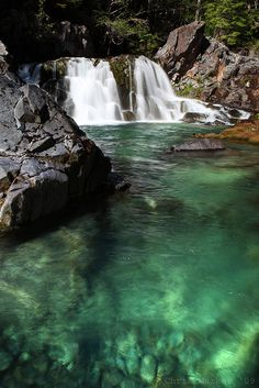 One of my favorite places in Oregon...Sawmill Falls, Opal Creek. Amazing swimming on really hot days!