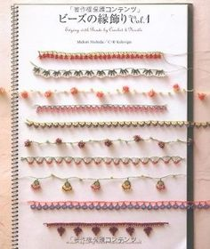 Edging with Beads by Crochet & Needle Japanese Craft Book Japan NEW
