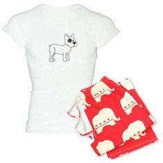 Cafepress Personalized Cute French Bulldog Women's Light Pajamas, Size: Small