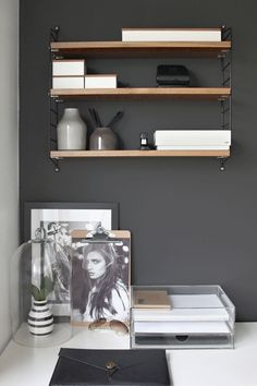 I like the idea of shelving in the office