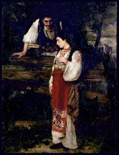 (The separation of boyfriend and girlfriend) Djordje Krstić ~Rastanak momka i devojke ~ 1881