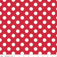 Fitted Crib Sheet, Also Fits Toddler Bed, Red Polka Dot, Cotton Fabric