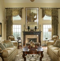 25 best traditional living room designs arched window - Custom Window Treatments