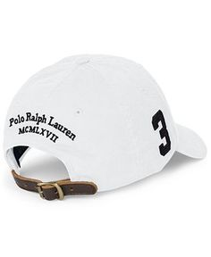 Polo Ralph Lauren Chino Sports Cap - Hats, Gloves & Scarves - Men - Macy's