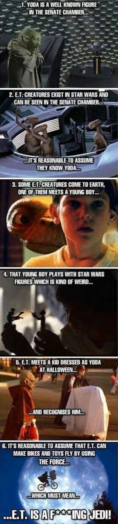 Interesting Theory. Of course the Senate Chamber has representatives from every known planet and the E.T. creatures may be entirely unrelated with the Jedi Counsel, however E.T. himself may be a Jedi