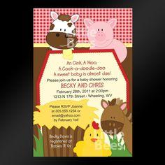 Printable Farm Birthday Invitations Free