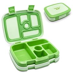 Bentgo Kids Green Leakproof Children's School Lunch Box Food Storage Container…
