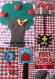 Tafeltent met diverse bosdiertjes en paddenstoelen | Voorbeeld tafeltenten | grietjesenpietjes