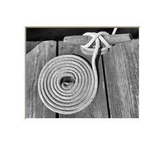 Boat Cleat Line Nautical Photography Coiled by NJSimages