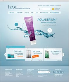 H2O Plus - Site institucional by Bruno Souza, via Behance