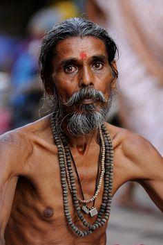 "India - Varanasi, ""Portrait of a Sadhu"""