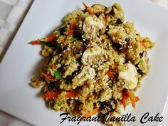 Raw Mushroom Fried Rice