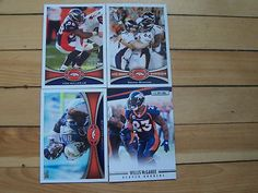 WILLIS MCGAHEE CHAMP BAILEY VON MILLER 2012 Denver Broncos Card Lot Topps Panini