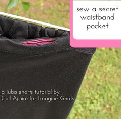 Tutorial: Add a secret waistband pocket to a shorts pattern