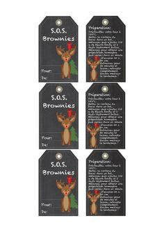 Brownie S. - Brownies en un Frasco (Regalo Gourmet) Sos Cookies, Cookies Et Biscuits, Mason Jar Gifts, Mason Jars, Sos Recipe, Brownies In A Jar, Diy Cadeau Noel, Gifts For Cooks, Gourmet Gifts