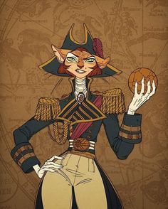 Art by Claire Hummel- Captain Amelia (Treasure Planet)