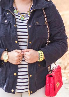 Ready for spring outfit + pastel JCrew jewelry // Stylish Sassy and Classy