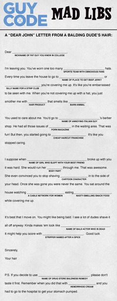 funny mad libs for adults printable - Google Search