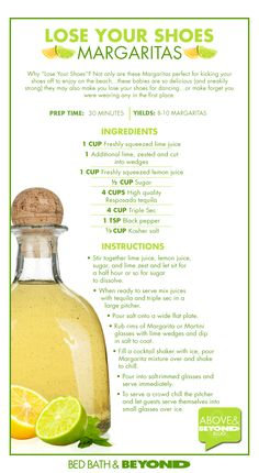 Lose Your Shoes Margarita recipe!