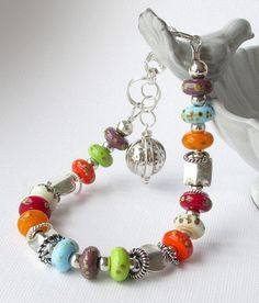 """I love the """"Happy Colors"""" of this bracelet."""