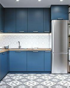 New Bathroom Layout Plans Kitchens Ideas Luxury Kitchen Design, Kitchen Room Design, Kitchen Layout, Home Decor Kitchen, Interior Design Kitchen, Bathroom Design Small, Blue Kitchen Cabinets, Kitchen Cabinet Colors, Bathroom Layout Plans