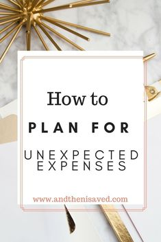 how to plan for unexpected expenses. An unexpected expense is the quickest way to ruin your household budget, and eat into your savings. By having a plan for what you will do when unexpected expenses occur you will minimize the impact they have on you savings plan, and bank account. Click through for more money saving tips, money saving ideas, and why you need a household budget. Plus more budget tips, and budgets for beginners. #budgeting #moneysaving #homemaking