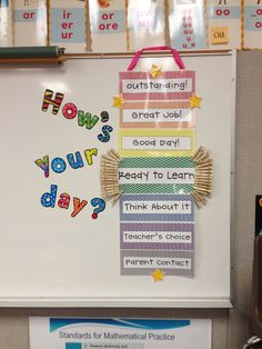 classroom behavior management system. How's your day? Clothespins can move up or down depending on a child's behavior