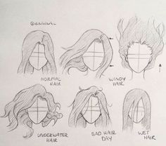 Pencil Drawing Hair Drawing Techniques- Karakalem Saç Çizim Teknikleri Charcoal Hair Drawing Techniques – the - Sketches, Easy Drawings, Drawing People, Drawings, Drawing Base, Aesthetic Drawing, Art, Drawing Tips, Doodle Drawings