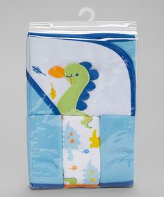 This Blue Hooded Towel Set is perfect! #zulilyfinds
