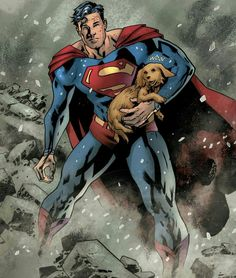 The Man of Steel is never too busy to save a pup! Superman Superman, May 2018 Superman Family, Superman Stuff, Dc Comics Collection, Supergirl Superman, Action Comics 1, Marvel Comics, Clark Kent, Smallville, Man Of Steel