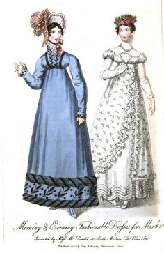 Morning and Evening Dresses, March 1818.