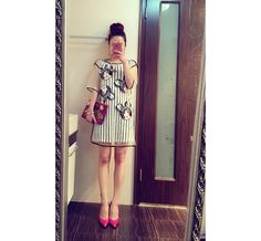 Striped Dress contain smock