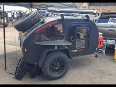 """micro"" off road tear drop trailer by Oregon Trail'R :Offload Expo 2017 - YouTube"