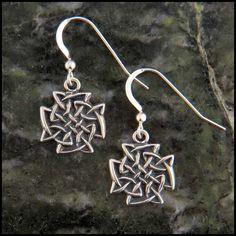 Celtic Knot earrings in Sterling Silver.
