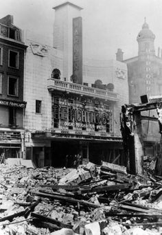 3rd May 1941: Bomb damage in London's Leicester Square caused by German air raids during the Blitz. Original Publication: Picture Post - 713 - The Morning After The Blitz - pub. 1941 (Photo by Bert Hardy/Picture Post/Getty Images)