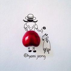 De jolies illustrations à partir d'objets du quotidien
