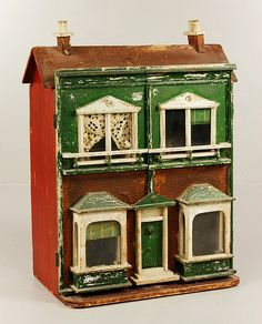 "described by auction house as ""American Folk Art Handmade Doll House""  ... but clearly a Lines house"