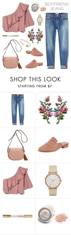 """""""Boyfriend Jeans"""" by deepwinter ❤ liked on Polyvore featuring Frame, MKF Collection, Charles David, Apiece Apart, Skagen, Michael Kors and boyfriendjeans"""