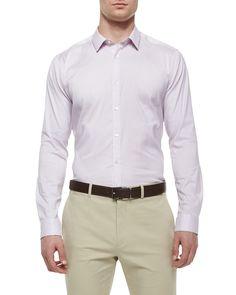 Zack PS Long-Sleeve Shirt, Light Purple, Lt Purple - Theory