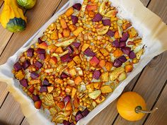 curried roasted roots with chickpeas