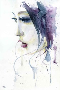 "cora-tiana: "" 'Silent' Artwork by Cora, 2014 watercolor, 30x46 cm Now available for sale in Society6! http://society6.com/coratiana/silent-pqn_print#1=45 """